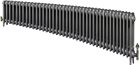 Eastgate Victoriana 3 Column 39 Section Cast Iron Radiator 450mm High x 2382mm Wide - Metallic Finish